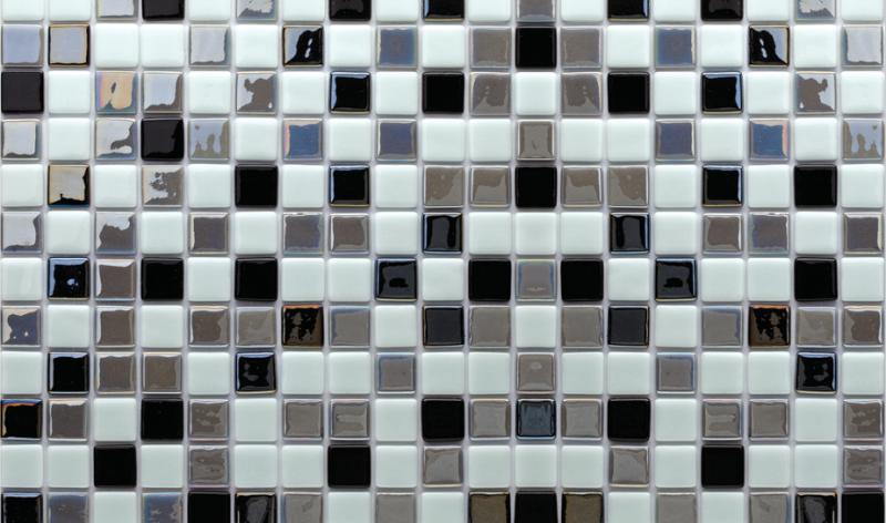 MOZAİX - Havuz Cam Mozaik Kaplama, Cam Mozaik A-203 Mix Artistic Seri 25X25 Mm File Montaj