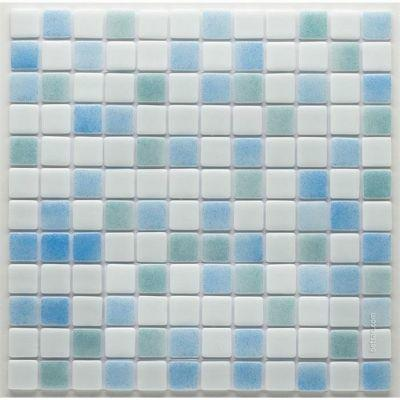 MOZAİX - Havuz Cam Mozaik Kaplama, Cam Mozaik G-151 Mix Granada Seri 25X25 Mm File Montaj
