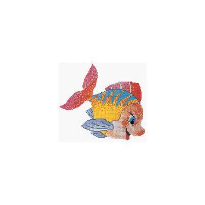 WATERFUN - Cam Mozaik Smile Fish Desen 3,84X4,16 M, Havuz Cam Mozaik Kaplama