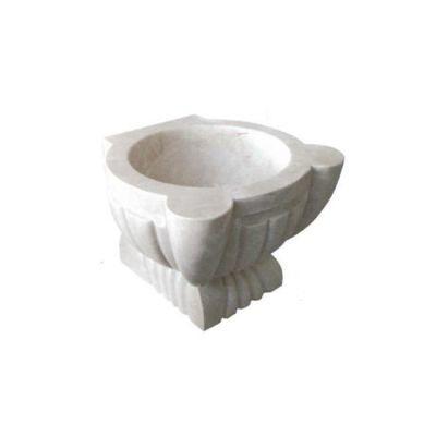 POOLLINE - Mermer Hamam Kurnası 45*45*35 cm Poolline CDM-103