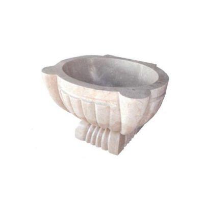 POOLLINE - Mermer Hamam Kurnası 45*55*35 cm Poolline CDM-97