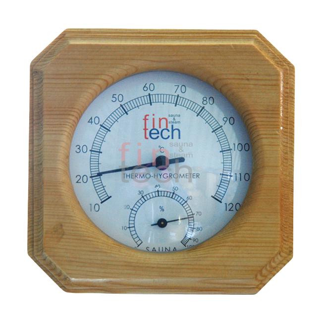FINTECH - Sauna Ahşap Higrometre Termometre Kombine Fintech