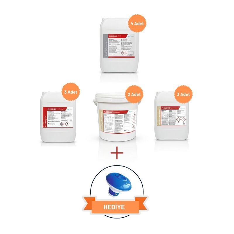 SELENOID - Havuz Kışlık Bakım Kimyasal Seti - Premium