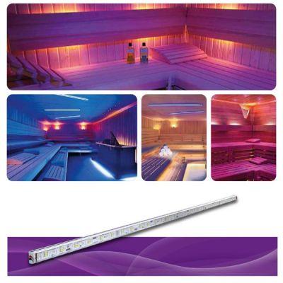 POOLLINE - Sauna Aydınlatması, Led Line Metrede 30 Bigtop Ledli 24V RGB 7,2W