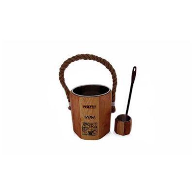 NARVİ - Narvi Handcraft Ahşap Sauna Kova Ve Kepçesi