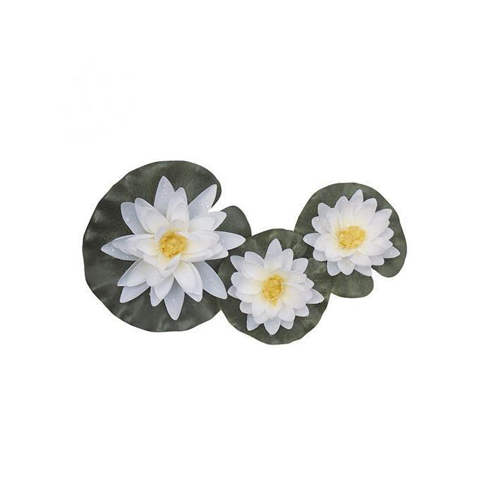 POOLLINE - Poolline Lotus Yüzer Tip Beyaz Su Nilüfer Seti