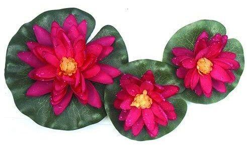 POOLLINE - Poolline Lotus Yüzer Tip Kırmızı Su Nilüfer Seti