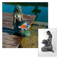 POOLLINE - Poolline Mermaid Denizkızı Figürlü Süs Havuzu Seti