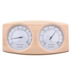 POOLLINE - Poolline Sauna Higro-Termometre Ahşap Çiftli