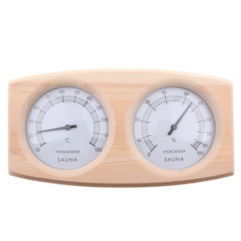 POOLLINE - Poolline Sauna Higrometre Termometre Ahşap Çiftli