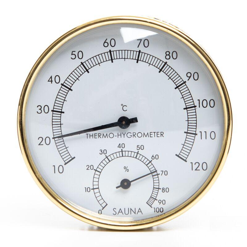 Poolline Sauna Higrometre Termometre Metal