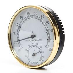 Poolline Sauna Higrometre Termometre Metal - Thumbnail