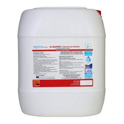 SELENOID - Havuz Kimyasalı Selenoid Liq. Ph Minus Sıvı Asit 25 Kg., Havuz Ph Düşürücü, Sülfürik Asit, Sıvı Asit,