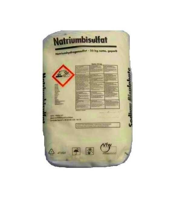SELENOID - Havuz Kimyasalı Selenoid Sodyum Bi Sulfat Toz Ph Düşürücü 25 KG, Havuz Ph Düşürücü