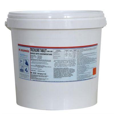 SELENOID - Havuz Kimyasalı Selenoid Trichlore Tablet Klor 10 Kg., Havuz Kloru