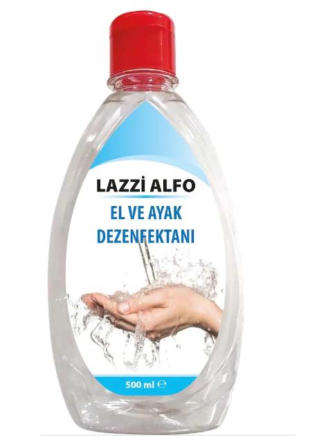 SPP - El ve Ayak Dezenfektanı 500ml SPP Lazzi Alfo (5'li Set)