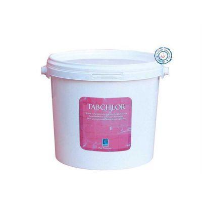GEMAŞ - Havuz Kimyasalı Tabchlor Stabilize Triklor Tablet 200 GR % 90 5 Kg, Toz Klor, Havuz Kloru