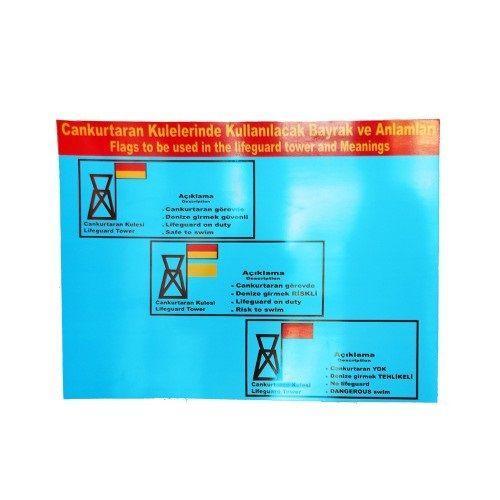 DİĞER - Uyarı Tabelası (Plaj-İkili Set), Havuz Can Kurtaran Malzemesi